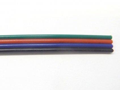 Plochý RGB kabel - Kabel RGB plochý 4x0,3