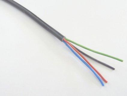 RGB kabel 4x0,5 kulatý - Černá