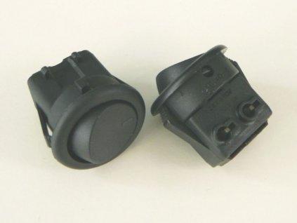 Vypínač kolébkový 250V/3A - Barva černá