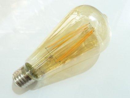LED žárovka E27 EDF4W ST64 FILAMENT oválná - Teplá bílá