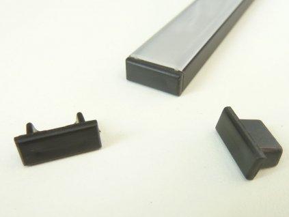 Koncovka profilu Mikro 2 černá - Plná
