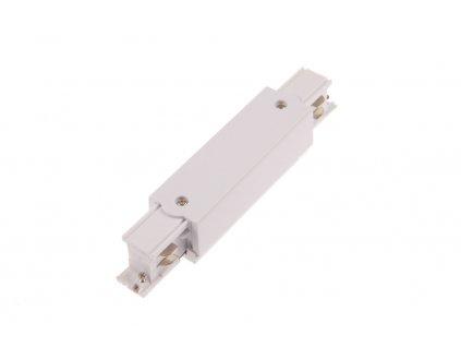 I spojka dlouhá s připojením 3F pro třífázovou lištu - Bílá