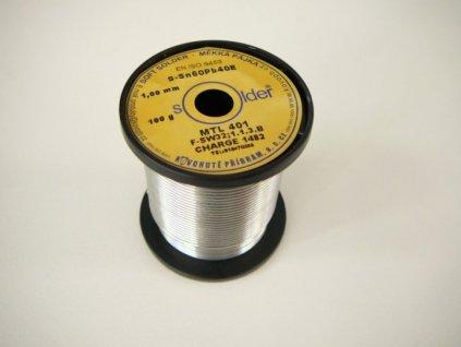 Trubičková pájka průměr 1 mm - Pájka cínová S-Sn60Pb40E 100g
