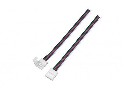 RGBW přípojka click pro LED pásek s kabelem - RGBW přípojka click 10mm s kabelem