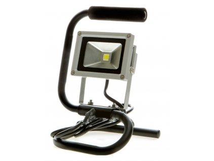 10W,820lm,155x245mm,10W/COB,Stříbrný LED reflektor 10W se stojanem bílá