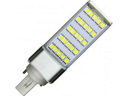 5W,400lm,124x35x35mm,25/SMD5050,LED žárovka G24 5W teplá bílá