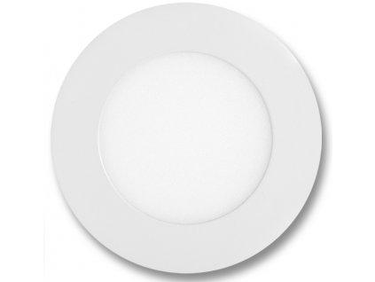 Bílý kruhový vestavný LED panel 120mm 6W denní bílá