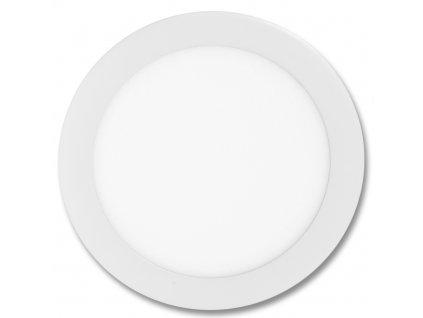 Bílý kruhový vestavný LED panel 175mm 12W teplá bílá