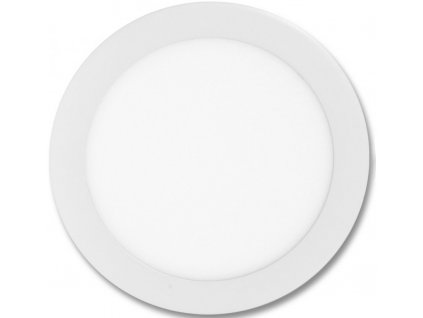 Bílý kruhový vestavný LED panel 300mm 25W teplá bílá