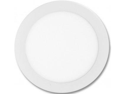 Bílý kruhový vestavný LED panel 300mm 25W denní bílá