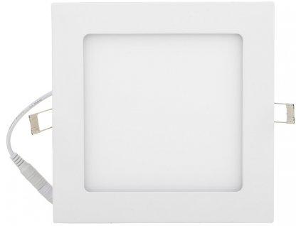 Bílý vestavný LED panel 175x175mm 12W teplá bílá