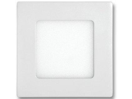 Bílý vestavný LED panel 120x120mm 6W teplá bílá