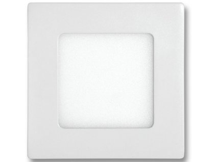 Bílý vestavný LED panel 120x120mm 6W denní bílá