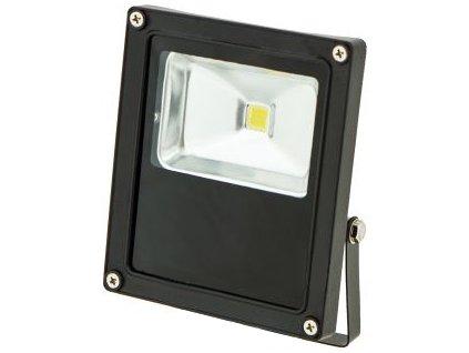 10W,900lm,83x114mm,10W/COB,Černý LED reflektor 24V 10W denní bílá