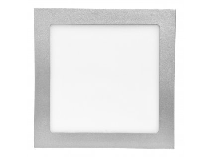 Stmívatelný Stříbrný vestavný LED panel 155x155 mm 15W teplá bílá