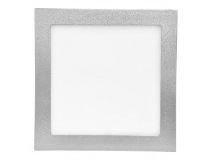Stmívatelný Stříbrný vestavný LED panel 200x200 mm 15W teplá bílá