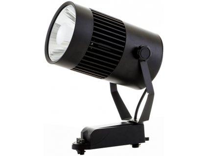30W,2400lm,115x220mm,30W/COB,Černý 1-fázový lištový LED reflektor 30W denní bílá
