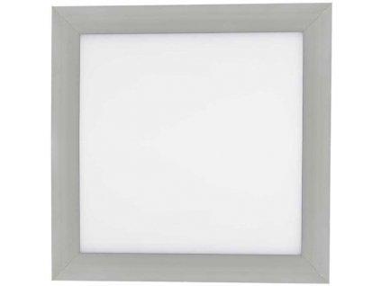 Stmívatelný Stříbrný vestavný LED panel 300x300mm 18W teplá bílá