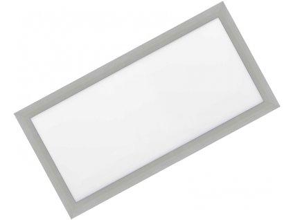 Stmívatelný Stříbrný vestavný LED panel 300x600mm 30W teplá bílá