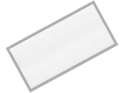 Stmívatelný Stříbrný vestavný LED panel 600x1200mm 72W teplá bílá