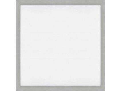 Stmívatelný Stříbrný vestavný LED panel 600x600mm 48W teplá bílá