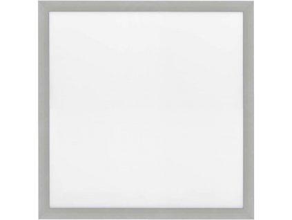 Stmívatelný Stříbrný vestavný LED panel 600x600mm 48W denní bílá