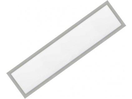Stmívatelný Stříbrný vestavný LED panel 300x1200mm 48W denní bílá