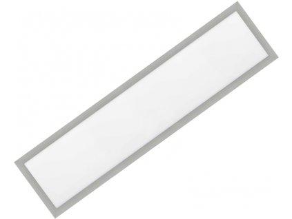 Stmívatelný Stříbrný vestavný LED panel 300x1200mm 48W studená bílá