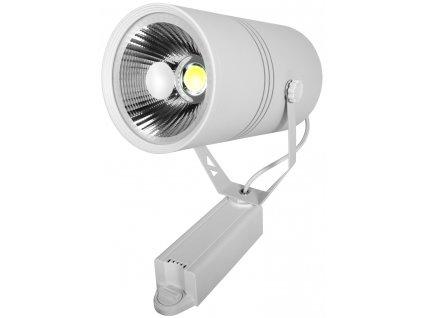 30W,2400lm,115x220mm,30W/COB,Bílý 1-fázový lištový LED reflektor 30W teplá bílá