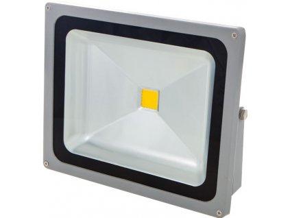 50W,4500lm,284x232mm,SMD2835,Stříbrný LED reflektor 24V 50W denní bílá