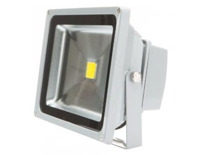 30W,2700lm,224x192mm,SMD2835,Stříbrný LED reflektor 24V 30W denní bílá