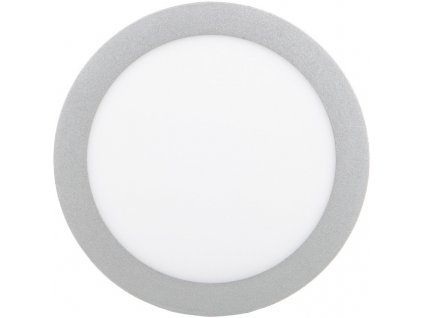 Stříbrný kruhový vestavný LED panel 225mm 18W teplá bílá