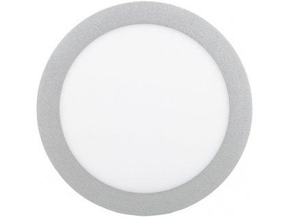 Stříbrný kruhový vestavný LED panel 225mm 18W denní bílá