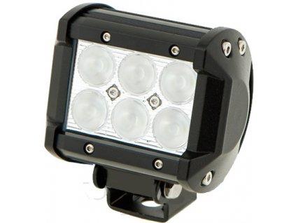 18W,1260lm,96x73mm,6x3W/LED,LED pracovní světlo 18W BAR 10-30V