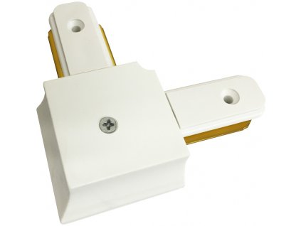 Spojka k bílému 1-fázovému lištovému systému rohová