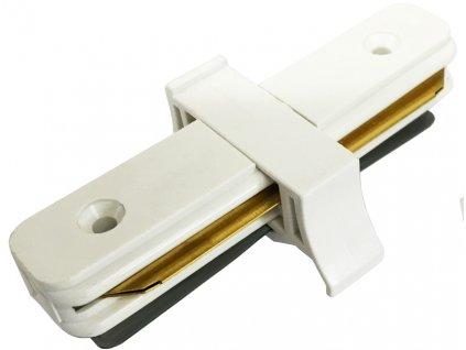 Spojka k bílému 1-fázovému lištovému systému rovná