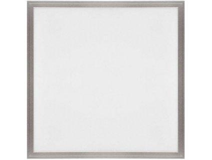 Stříbrný závěsný LED panel 600x600mm 45W denní bílá 4300lm