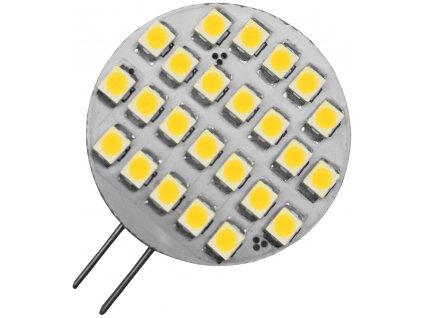 1,5W,90lm,4340137mm,24/SMD,LED žárovka G4 1,5W kapsule kulatá teplá bílá