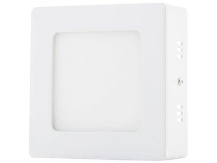 Bílý přisazený LED panel 120x120mm 6W teplá bílá