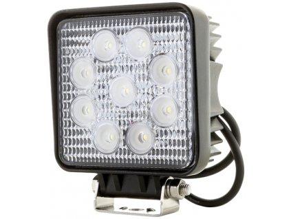 27W,1950lm,115x135mm,9x3W/LED,Hranaté LED pracovní světlo 27W 10-30V