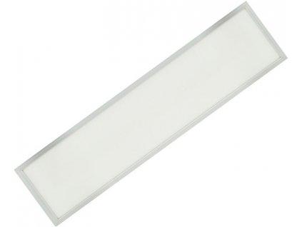 Stříbrný LED panel s rámečkem 300x1200mm 45W denní bílá