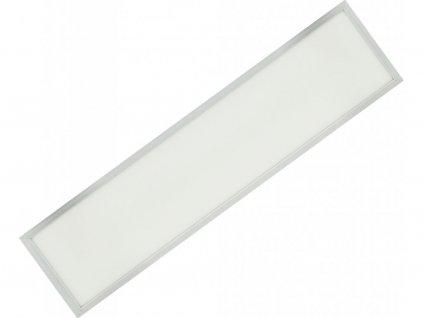 Stříbrný závěsný LED panel 300x1200mm 45W denní bílá