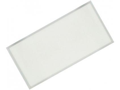 Stříbrný podhledový LED panel 600x1200mm 75W denní bílá