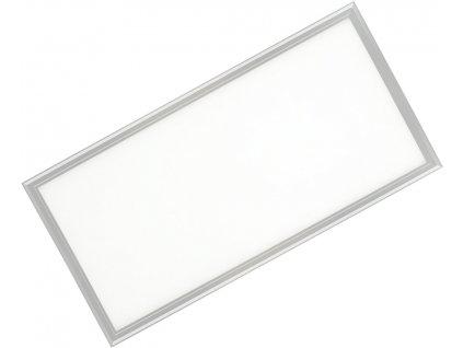 Stříbrný závěsný LED panel 600x1200mm 75W denní bílá