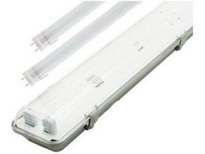 LED zářivkové těleso 150cm+2x LED zářivka studená bílá 6330lm