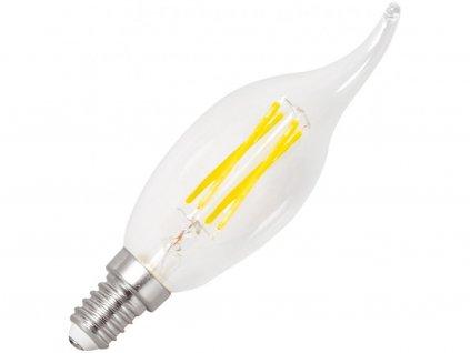Stmívatelná LED žárovka E14 retro 4W svíčka teplá bílá