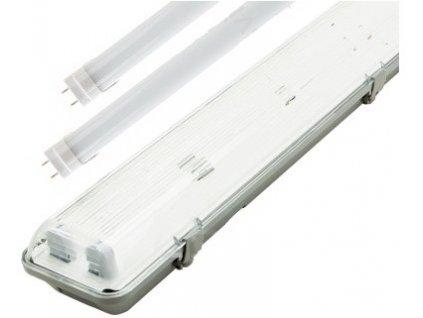 LED zářivkové těleso 120cm+2x stmívatelná LED zářivka denní bílá 4800lm 0-10V