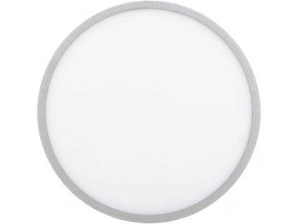 Stmívatelný Stříbrný kruhový vestavný LED panel 600mm 48W teplá bílá