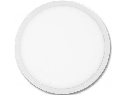 Stmívatelný Bílý kruhový vestavný LED panel 600mm 48W teplá bílá