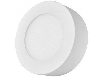 Bílý kruhový přisazený LED panel 120mm teplá bílá